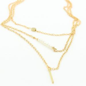 送料無料 レア 3連 ネックレス レディース プレゼント ゴールド シルバー アクセサリー|accessory-pov
