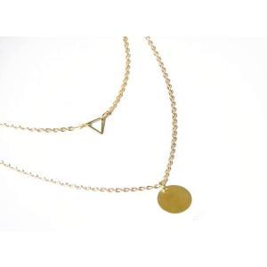 送料無料 レア 2連 ネックレス レディース プレゼント ゴールド シルバー アクセサリー|accessory-pov