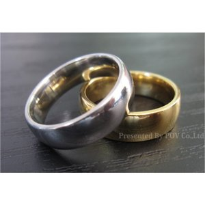 リング 指輪 メンズ シンプル シルバー ゴールド ステンレス accessory-pov 02