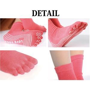 ヨガ ソックス 5本指 靴下 ホット ヨガウェア hot yoga ピラティス トレーニングウェア|accessory-pov|05