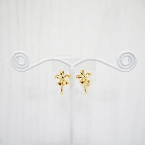 ニューノンホールピアス バックパールフラワー ゴールド マルピア|accessoryjapan