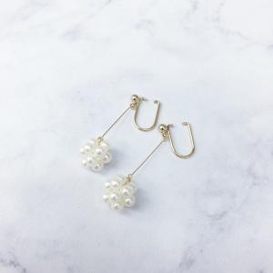 ニューノンホールピアス プチくす玉パール マルピア|accessoryjapan