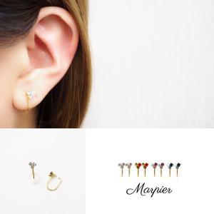 ニューノンホールピアス 小粒スワロフスキー クリスタル マルピア|accessoryjapan