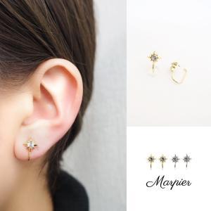 ニューノンホールピアス 八角星 ゴールド マルピア|accessoryjapan