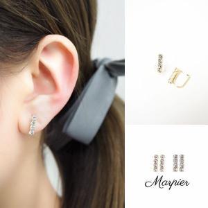 ニューノンホールピアス ダイヤチェーン ゴールド マルピア|accessoryjapan