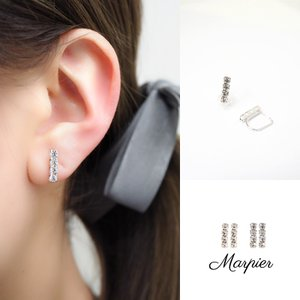 ニューノンホールピアス ダイヤチェーン ロジウム マルピア|accessoryjapan