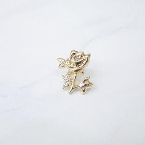 バラエティアクセサリー 一輪のバラ タックピン accessoryjapan