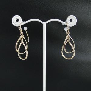 痛くないイヤリング Wドロップリング ピナチョコ|accessoryjapan