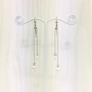 痛くないイヤリング スライドパール シルバー ピナチョコ accessoryjapan