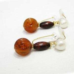 痛くないイヤリング ナチュラル素材のイヤリング ピナチョコ|accessoryjapan