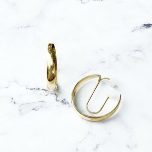 痛くないイヤリング  G型メタル ピナチョコ|accessoryjapan