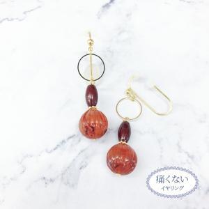 痛くないイヤリング 揺れキュートべっ甲  ピナチョコ|accessoryjapan