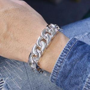 喜平 ブレスレット プラチナ Pt850 メンズ 350g 日本製 刻印入り メンズ キヘイ 長さ指定可能 男性用|accessorymart