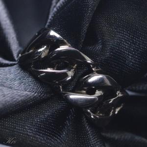 喜平 リング K18 18金 ブラックメッキ メンズ