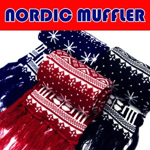 【商品詳細】 □商品名:NORDIC MUFFLER ノルディック柄マフラー   □型番:NM01 ...
