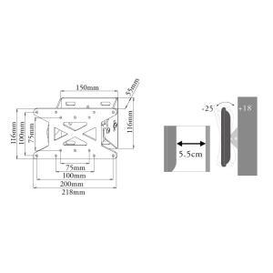 壁掛けテレビ テレビ台 金物/12-26型/角度調節付/VESA - LCD-ACE-109 テレビ TV 壁掛け 壁掛け金具 壁掛金具|ace-of-parts|07