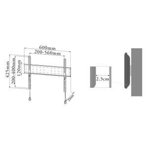 壁掛けテレビ テレビ台 金物 32-47型 角度固定薄型 液晶・LED・プラズマ - PLB-ACE-141S テレビ TV 壁掛け 壁掛け金具 壁掛金具 ace-of-parts 07