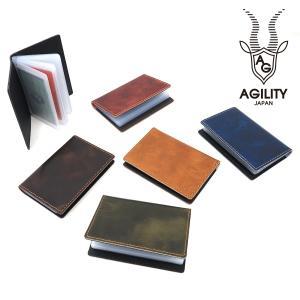 アジリティ 小物 メンズ レディース 定期入れ キップワックス ブラン カードケース 0274 AGILITY affa 贈り物|ace-web