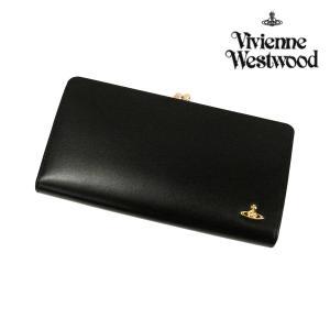 ヴィヴィアンウエストウッド 財布 メンズ レディース 長財布 ヴィンテージオーブ がま口長財布 ブラック 3118M111 Vivienne Westwood ユニセックス  ウォレット|ace-web