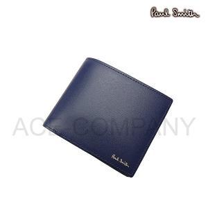 c2ca55e5fc29 ポールスミス 財布 メンズ 折り財布 シティエンボス 2つ折り財布 ブルー PSC305 Paul Smith ウォレット