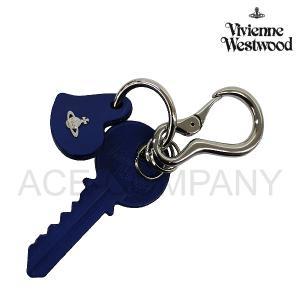 ヴィヴィアンウエストウッド 小物 メンズ レディース キーリング レザー キーチャーム ブルー 35180005 Vivienne Westwood メンズ ladies 贈り物|ace-web
