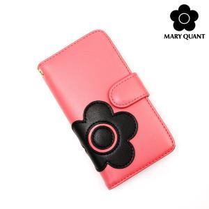 マリークワント 小物 レディース スマホケース iPhone7 8対応 デイジーアイコン 手帳型モバイルケース コーラルピンク MARY QUANT マリクワ ladies ace-web