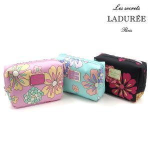 ラデュレ 小物 レディース ポーチ スクレ・ラデュレ Flower Power フラワーパワー スクエアポーチ LADUREE ladies 贈り物|ace-web