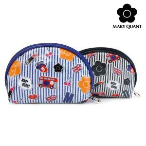 マリークワント 小物 レディース コスメポーチ ワッペンライク ラウンドポーチ MARY QUANT マリクワ ladies 贈り物|ace-web