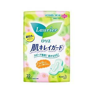 【花王】ロリエ 肌キレイガード ふつうの日用 羽つき(22コ入)