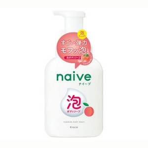 【クラシエ】ナイーブ 泡で出てくるボディソープ 桃の葉エキス配合 フルーティフローラルの香り(500...