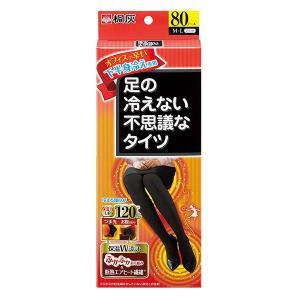 《桐灰化学》 足の冷えない不思議なタイツ 下半身冷え専用 M-Lサイズ 黒色 1足分|ace