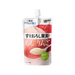 《キユーピー》 やさしい献立 すりおろし果実 ももとりんご 100g 区分4 (介護食) ace
