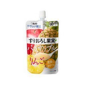 《キユーピー》 やさしい献立 すりおろし果実 パイナップルとりんご 100g 区分4 (介護食)|ace