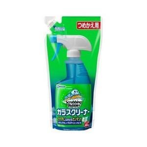 『スクラビングバブル ガラスクリーナー 詰替え用(400ml)』は、汚れにはりつく洗浄液で拭きとりし...