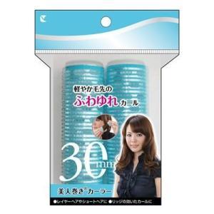 《ラッキートレンディ》 美人巻きカーラー(30mm) 【114-11A】 ターコイズ 2個入 (カーラー) ace