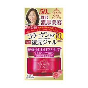 ◆50代の肌を考えてつくられた、とろけるようになじむ1品8役の濃潤ジェルクリーム。復元ジェルがうるお...