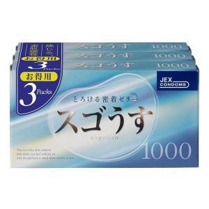 《ジェクス》 すごうす1000 コンドーム Mサイズ 薄め 12個入×3箱|ace
