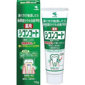《小林製薬》 シコンコート 110g ミントの香り 【医薬部外品】 (薬用歯みがき)|ace