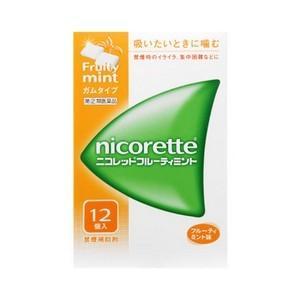 《武田薬品》 ニコレットフルーティミント 12個入 【指定第2類医薬品】 (禁煙補助剤)|ace