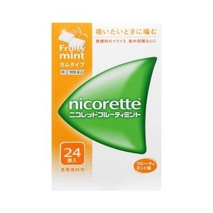 《武田薬品》 ニコレットフルーティミント 24個入 【指定第2類医薬品】 (禁煙補助剤)|ace