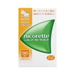 《武田薬品》 ニコレットフルーティミント 96個入 【指定第2類医薬品】 (禁煙補助剤)|ace