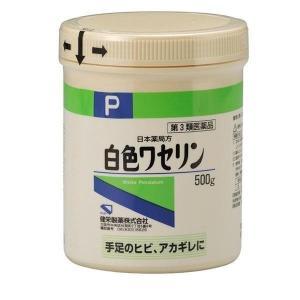 《健栄製薬》 白色ワセリン P 500g 【第3類医薬品】