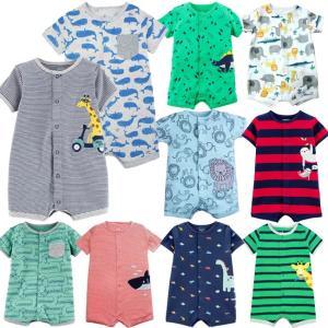 カーターズ Carter's 半袖 ロンパース カバーオール ベビー服  男の子 12デザイン 6m 9m 12m 18m 24m(メール便可) かわいい 夏 新生児 乳幼児 カバーオール