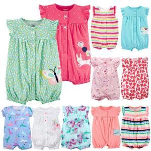 カーターズ Carter's 半袖 ロンパース カバーオール ベビー服  女の子 12デザイン 6m 9m 12m 18m 24m(メール便可) かわいい 夏 新生児 乳幼児 カバーオール