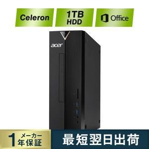 新品PC デスクトップパソコン Acer(エイサー) XC-830-N18F/F Celeron J4005 メモリ8GB 1TB HDD Windows 10 Office H&B 2019 Intel 安い HDMI