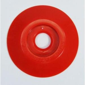 W301 コノエダブル No.3 赤 (20個入)  外径47mm×高さ7mm 測量用明示板 測量鋲 ポイント 標示板 土地家屋調査|acetech