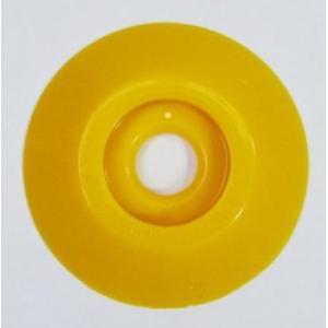 W303 コノエダブル No.3 黄 (20個入)  外径47mm×高さ7mm 測量用明示板 測量鋲 ポイント 標示板 土地家屋調査|acetech
