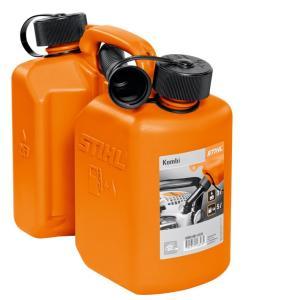 STIHL(スチール) コンビネーション燃料携行缶 3L/1.5L No.00008810124 燃料とチェンオイルのツイン携行缶|acetech