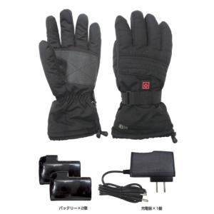手袋 ヒートグローブ ブレイン あったか手袋 大容量バッテリー 最大8時間発熱 スマホOK 大容量 撥水 止水ファスナーの商品画像|ナビ