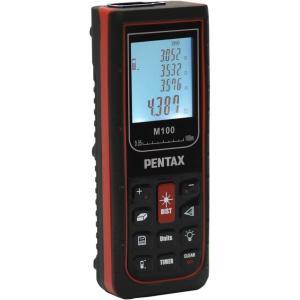 [送料無料] PENTAX ペンタックス 携帯レーザー距離計 M-100 測定範囲0.05-100m ハンディレーザー距離計 面積体積測定 ピタゴラス計算 TIアサヒ acetech